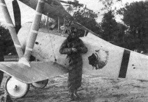 当時のラファイエット部隊 ニューポール17の実際の写真