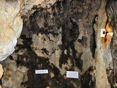 洞内はかなり迷路状。 天井などにも昔の出水口と思われる穴や複雑な侵食地形が随所に見られる。