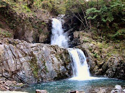 帰りがけに、神流川支流の「龍神の滝」を見物。 スケールは大きくないがなかなか良い滝である。