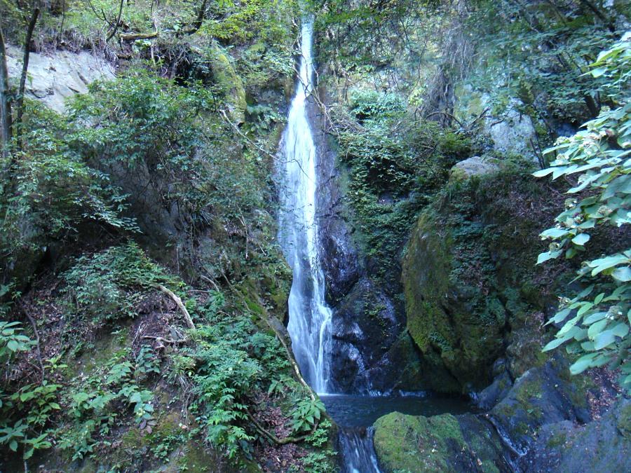 すこし上流に行くと大岳沢大滝があります。 落差約25m。