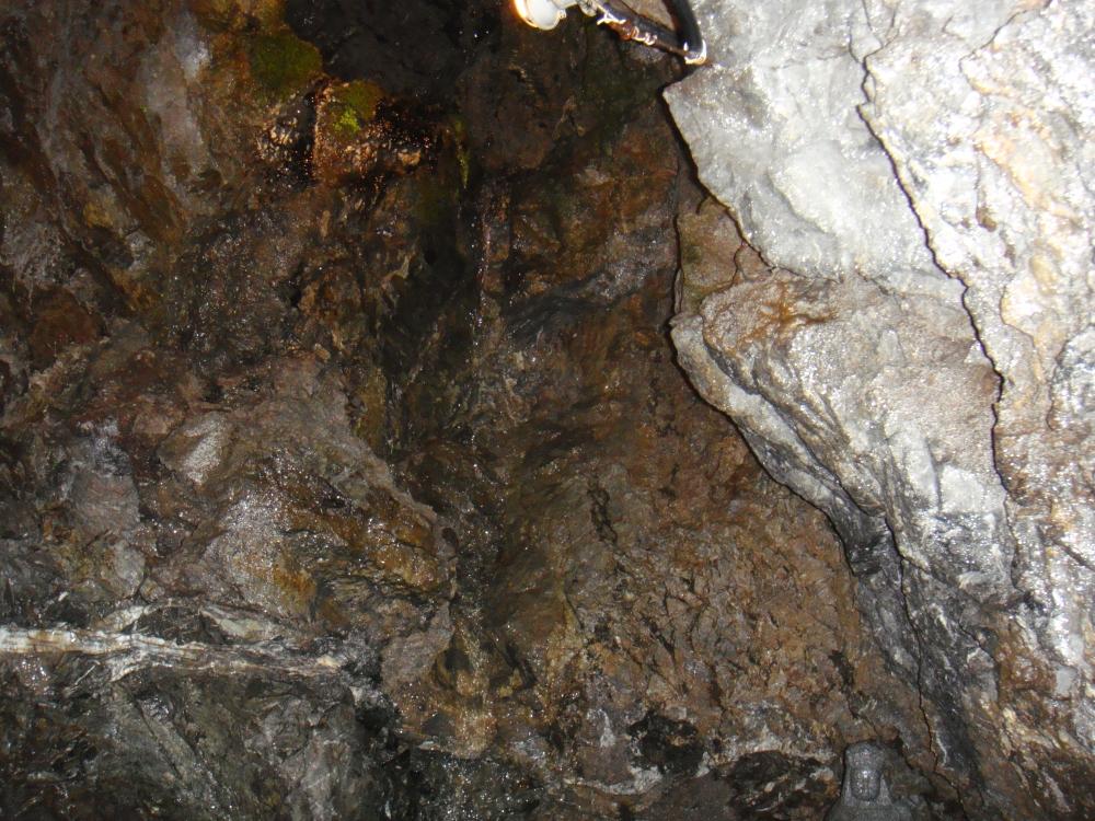 「竜神の滝」下部。このときは水はほとんど無し。