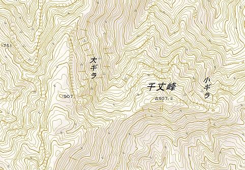 国土地理院の地形図にも記載があった